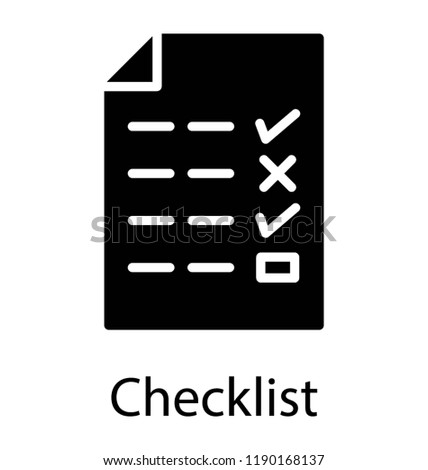 things do checklist icon stock vector royalty free 1190168137
