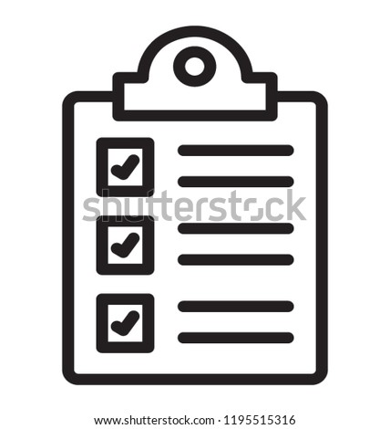 things do checklist icon stock vector royalty free 1195515316