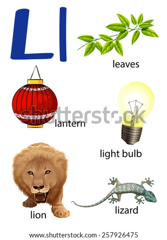Things That Start Letter L On Stock Vector (Royalty Free