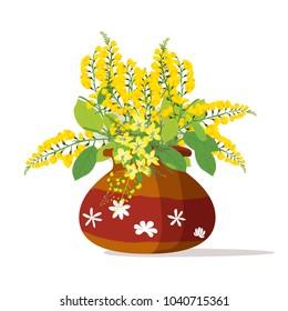 Thingyan, Paddok flower, Myanmar traditional flower pot, burma, asia,