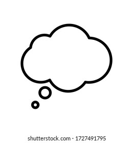 Think bubble icon. Think or speech bubble line vector icon.