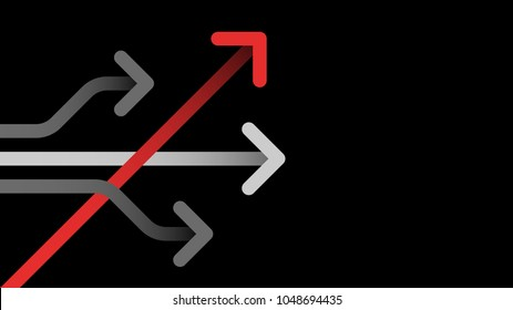 think different business concept arrow icon