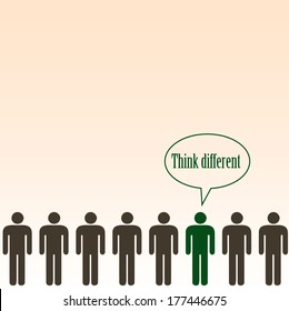 Think different concept- background