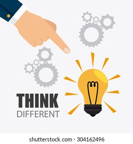 Think different design, vector illustration eps 10.