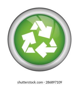 Think green design over white background, vector illustration