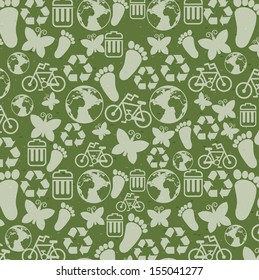 think green over green background vector illustration