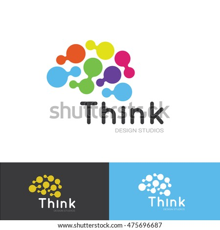 Think Idea Brain Logo Template Stock Vector Royalty Free 475696687