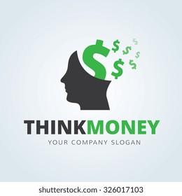 Think Money Vector Logo Template