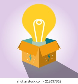 Think out of box vector template