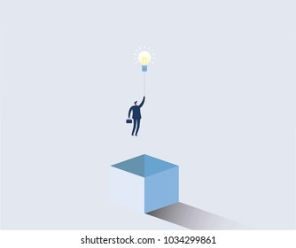 Think outside the box business concept.