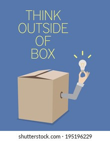 Think Outside Of Box - concept. EPS10.