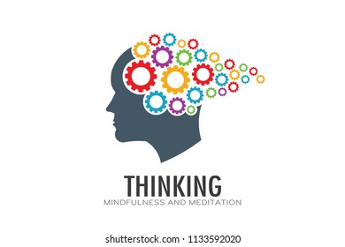Thinking Brain Imagination Logo Vector Illustration
