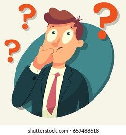 Man Confused Cartoon Images Stock Photos Vectors Shutterstock