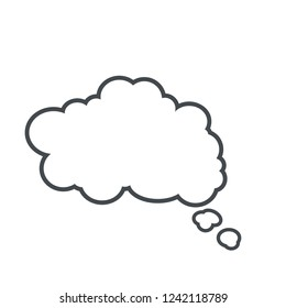 Thinking cloud bubble icon