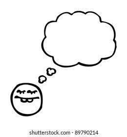thinking emoticon face cartoon