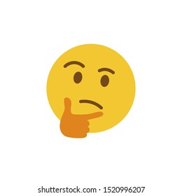 Thinking face emoji. Emoji icon. Vector