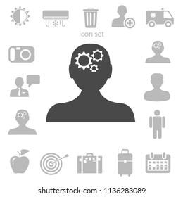 Thinking icon. vector illustration