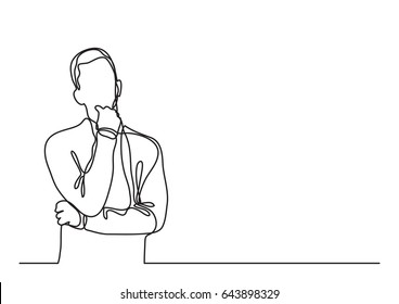 thinking man - continuous line drawing