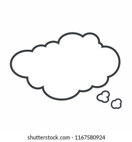 thinking speach bubble.vector icon