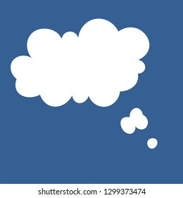 Thinking Speech bubbl. Vector illustration