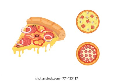 Thinly sliced pepperoni is a popular pizza. Italian cook and pizzas delivery.