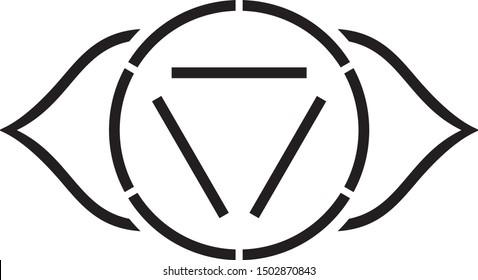 Third Eye Chakra Stencil, Sacred Geometry