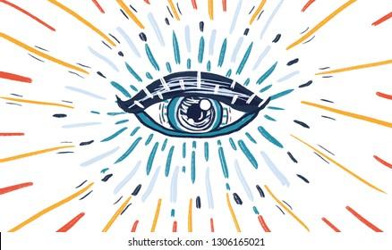 Third Eye, Spiritual Awakening Illustration