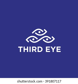 'Third Inner Eye' Original Symbol.Memorable Visual Metaphor.Simple Solid & Bold Mark.Represents Concept of Control Monitoring Lookout Audit Enlightenment Sight Insight Vision Attention Research  etc