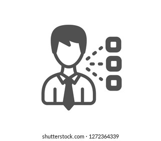Third party icon. Team leader sign. Business conversation symbol. Quality design element. Classic style icon. Vector