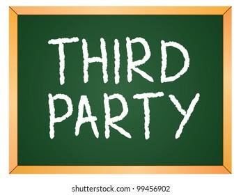 """third party"" word written on chalkboard"