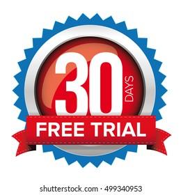 Thirty days free trial badge