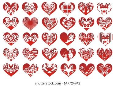 Thirty heart, vector