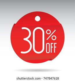 thirty percent off sticker rumbled, sale 30% discount