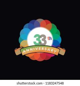 thirty-three Anniversary logo vector