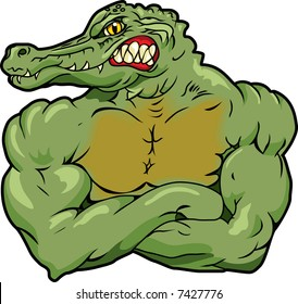 This is an Alligator and he's a mean one.
