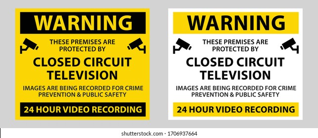 This Area Is Under 24 Hour Video Surveillance Symbol Sign, Vector Illustration, Isolate On White Background Label, CCTV Camera. Black Video surveillance sign. Vector isolated