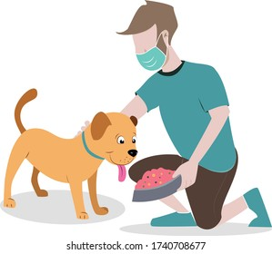 this artwork encourages people to look after the stray animals around their vicinity as the world deals with covid19 threat