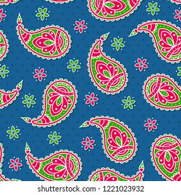 This is a bright seamless background with paisley 