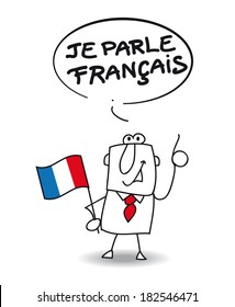 This businessman speaks french