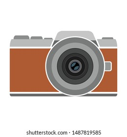 This camera symbol vector image is suitable to be used as a logo or application button or website.
