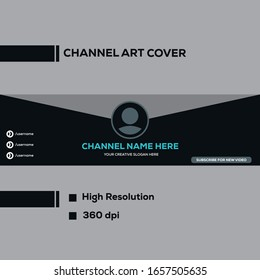 Channel Art Template Images Stock Photos Vectors Shutterstock