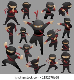 This is a collection of 15 ninja fighting poses and gestures. Available in eps vector format to suit your needs.