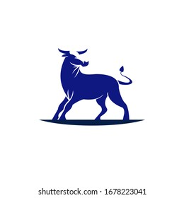 this is cow. animal  strong logo template