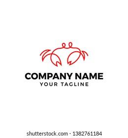 this is crab monoline logo design
