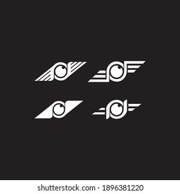 this is a creative aerial photography logo icon