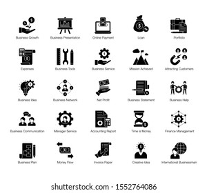 This is creative icons set of business and finance elements to spice up your designs. This pack will exactly deliver what you are looking for.