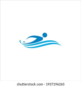 This is a creative and unique Swimming logo design
