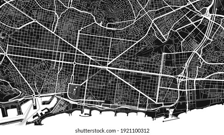 This is a digital map city. It is Barcelona