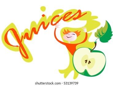 This is an element for design menu  of juices