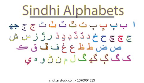 This is an eps file with sindhi language alphabets